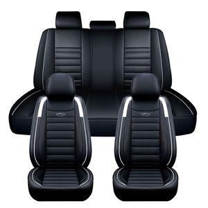 11tlg Elegant 5 Sitz Auto Sitzbezüge Schonbezüge Komplettset Kunstleder white