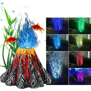 LED Aquarium Volcano Ornament Kit Farbe und fš¹gt Ornamental Value Aquarium