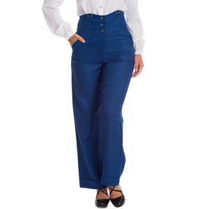 Banned Retro Marlene-Hose - Sassy Blau XL