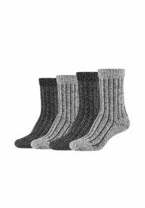 s.Oliver Kuschel-Socken 4er Pack mit angenehmem Tragekomfort anthracite 39/42