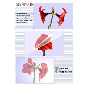 OLYMPIA Laminierfolie, DIN A4, 125 Mikron, 100 Stück