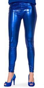 Folat leggings Damen Polyester metallic blau Größe L/XL
