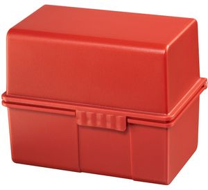HAN Karteikasten DIN A5 quer Kunststoff rot