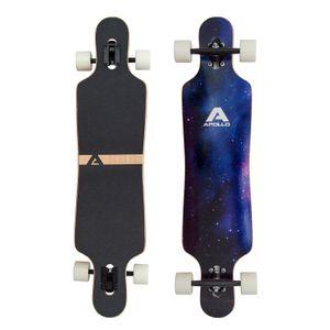"""Apollo Longboard """"Nebula"""" Twin Tip DT Komplettboard 101,6 x 24,6 cm 8 Lagen Holzdeck Cruiser-Board"""