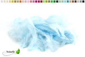 Bastelfedern 5-10cm, ca. 80-100 Stück, Farbauswahl:hellblau 311