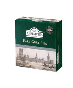Ahmad Tea- Earl Grey 100 St. Schwarzer Beutel-Tee á 2 Gramm mit Band