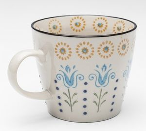 Tasse Grandmas Flower 250 ml, Farbe:blau