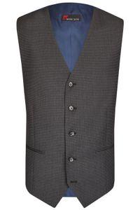 Größe 54 Atelier Torino Business Weste Tempo Grau classic fit normaler Schnitt Schurwolle