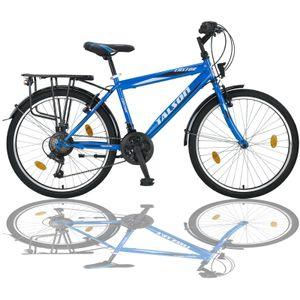 """24 Zoll Kinderfahrrad 21 Gang 24"""" Fahrrad Blau Vorder- + Rücklicht TMX"""