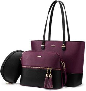 Handtasche Damen Schultertasche Handtaschen Tragetasche Damen Groß Designer Elegant Umhängetasche Henkeltasche Set 3-teiliges Set