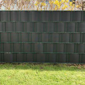 10x HART PVC Sichtschutzstreifen für Doppelstabmattenzaun Gittermatten Sichtschutz Anthrazit