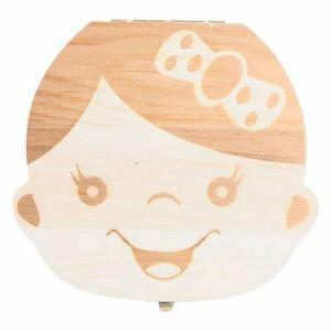Milchzahnbox Holz Milchzähne Box Baby Milchzahndose Souvenir Geschenk für Mädchen