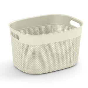 KIS Filo Basket L, Aufbewahrungskorb, Elfenbein, Oval, Einfarbig, Innenraum, Outdoor, 18 l
