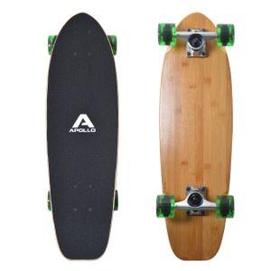 "Apollo Mini-Longboard ""Classic Green Midi"" 30"" Koplettboard Holz Cruiser im Skateboard-Style"