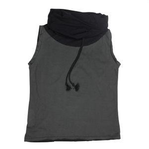 Pullunder - ärmellos - grau-schwarz - - Baumwolle - one size - Jersey