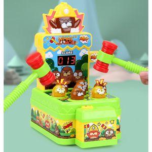 NightyNine Whac Montessori Spielzeug ,Schlag Den Maulwurf,Elektronisches Mini Arcade Spielzeug,Münzspiel Mit 2 Hämmern,Interaktives Pädagogisches Für Kleinkinder,Kinder,Mädchen Und Jungen Im Alter Von 3-6 Jahren