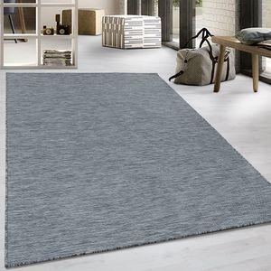 Flachgewebe Teppich Sisal Optik Indoor Outdoor Küche Terrasse Anthrazit, Grösse:160x230 cm