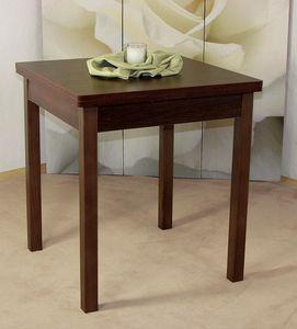 Esstisch Küchentisch nußbaumfarbig dunkel, ca. 67x67 cm ausziehbar bis 127 cm