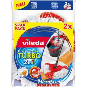 Vileda Turbo 2in1 EasyWring & Clean Ersatzbezug für Wischmop Reinigungsbezug
