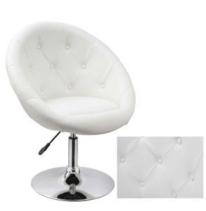 Duhome Sessel Clubsessel in weiß Lounge Sessel Cocktailsessel Kunstleder