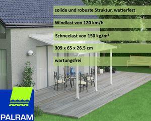 Palram Aluminium Terrassenüberdachung 3x4,3 m Olympia weiß Terrassendach Überdachung Vordach Unterstand