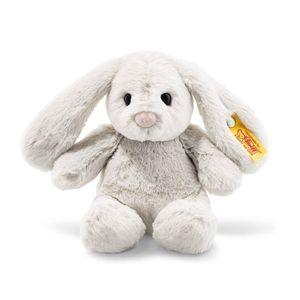 Steiff  080463Soft Cuddly Friends Hoppie Hase Kuscheltier, hellgrau