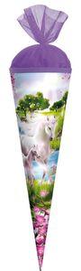 Schultüte 'Einhorn mit Fohlen' - Zuckertüte 35 cm