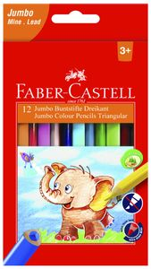 FABER-CASTELL Dreikant-Buntstifte Jumbo 12er Etui