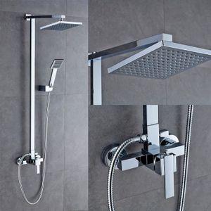 8 Zoll Duschamatur Duschset Duschstange Regendusche Handbrause Duschkopf Set
