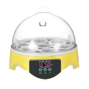 7 Eier Mini Digital-Ei-Brut Hatcher Transparent Eier Schraffur Maschine Automatische Temperaturregelung für Chicken Ente Vogeleier AC220V