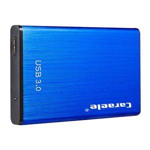Tragbare Externe Festplatte USB 3.0 Backup HDD Festplattenlaufwerk für PS4 Xbox PC TV Blau 2T 12,5 x 7,5 x 1 cm