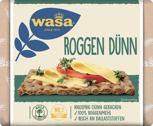 Wasa Roggen dünnes gross gebackenes Knäckebrot aus Roggen 205g