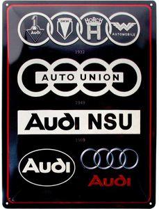 Nostalgic-Art - Blechschild Metallschild 30x40cm - Audi Logo Evolution