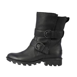 Sorel Phoenix Moto Damen Leder Boots Stiefel Stiefeletten Waterproof Schuhe Schwarz Schuhgröße: EUR 39