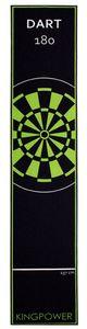 Dart Teppich Grün Matte Steeldart Dartpfeile Dartboard Zubehör Dartteppich Target Oche Darts Abwurflinie Schutz Gummi Boden Dartscheibe 290 x 60 cm Kingpower