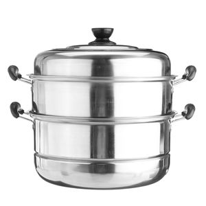 Dampfgarer Suppentopf Kochtopf Dampftopf Dampfkochertopf mit Deckel Edelstahl