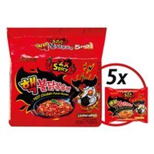 Samyang Hot Chicken 5 x 140g Instant Nudeln Ramen Sehr Scharf Ramennudeln ROT