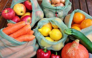 slowroom - 3 wiederverwendbare Obstbeutel Gemüsebeutel