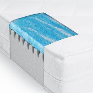 Gel- und Kaltschaummatratze mit Mikrofaser Bezug - 120x200cm