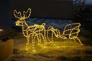 LED-Deko 'Rentier mit Schlitten' Licht Weihanchten Xmas, winterliche Dekoration