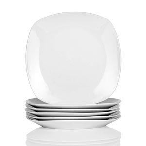 "MALACASA, Serie Elisa, 12 tlg. Set 7,5"" Porzellan Dessertteller Kuchenteller Teller Set 19 x 19 x 2cm für 12 Personen"