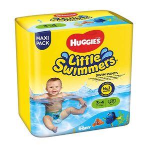 Huggies Little Swimmers 7 bis 15 Kg Schwimmwindeln Größe 3-4 20 Stück