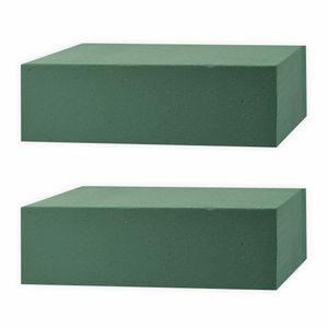 Creleo - Steckschaum 2 Stück grün nass für Frischblumen 23x11x8 cm Steckmasse
