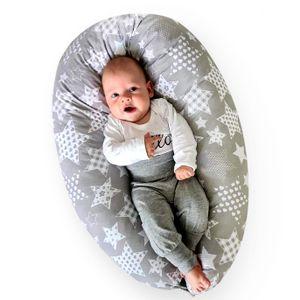 BeBeLoo Stillkissen 170x30cm Schwangerschaftskissen Seitenschläferkissen Babynestchen Lagerungskissen Stillmond- treuer Begleiter während und nach der Schwangerschaft – für Mütter und Babys…