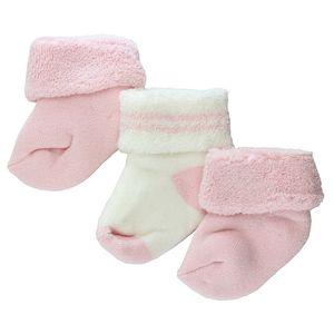 ewers 3er Set Baby- Socken Erstlingssöckchen rose/rose/latte
