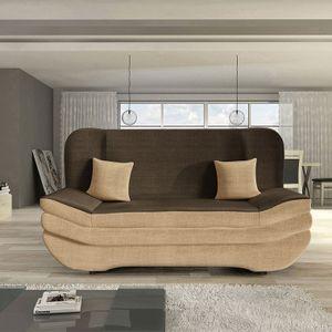Mirjan24 Schlafsofa Weronika, Polstersofa mit Bettkasten, Stilvoll Couch (Cairo 22 + Cairo 35 + Cairo 22)