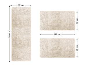Bettumrandung Sphinx | Creme | 1 Läufer 67x240 cm + 2 Brücken je 67x140 cm