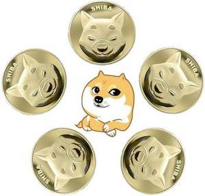 10 Stk Gold SHIBA SHIB Münzen Gedenksammler Vergoldetes Gedenkmünzen Münz-Souvenir