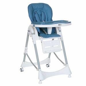 Kinderhochstuhl Babystuhl Tisch Kombination mit Liegefunktion Klappbar bis 15 kg blau