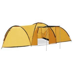CampFeuer Tunnelzelt Camping-Igluzelt 650×240×190 cm 8 Personen Gelb